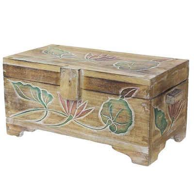 Oriental Galerie Truhe »Natur Truhe Blumen Color 39 cm«, traditionelle Herstellung in Handarbeit im Ursprungsland