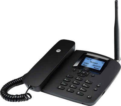 Motorola »FW200L drahtloses Tischtelefon« Festnetztelefon (Tischtelefon mit Antenne; GSM-Quadband)