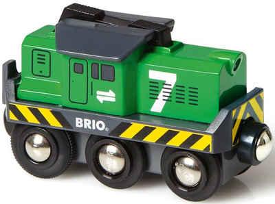 BRIO® Spielzeug-Eisenbahn »BRIO® WORLD Batterie Frachtlok«, mit LichtfunktionMade in Europe, FSC® - schützt Wald - weltweit