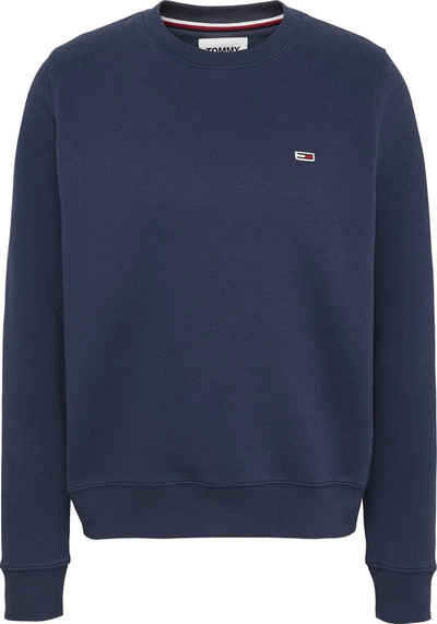 Tommy Jeans Sweatshirt »TJW REGULAR FLEECE C NECK« mitTommy Jeans Logo-Flag auf der Brust