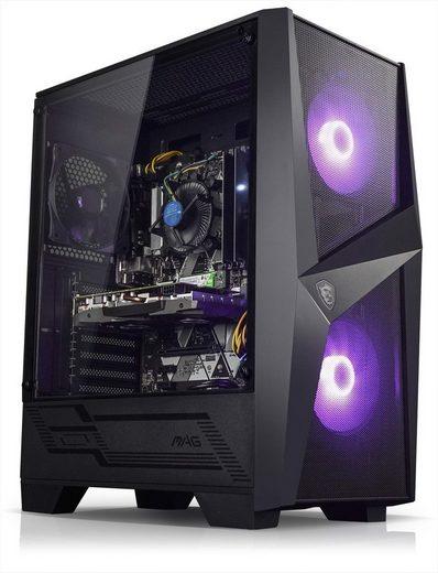 Kiebel Earthquake Gaming-PC (AMD Ryzen 7 AMD Ryzen 7 3700X, GTX 1650, 16 GB RAM, 1000 GB SSD, Luftkühlung, RGB-Beleuchtung)
