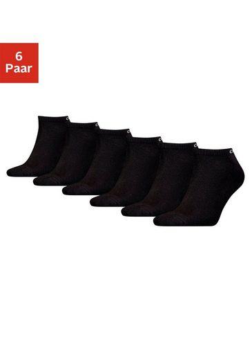 Calvin Klein Sneakersocken (6-Paar) mit kleinem Logo am Bund