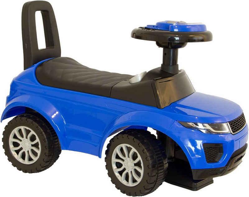 NATIV Spielzeug Rutscher, Rutscherauto mit Musiklenkrad und Kunststoffräder