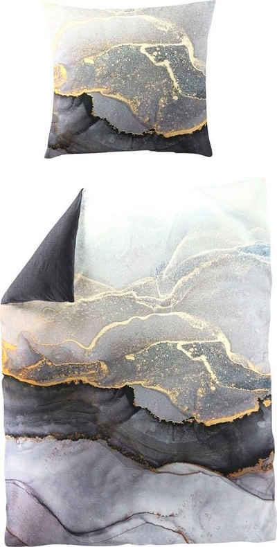 Wendebettwäsche »Grey Stone«, BIERBAUM, mit phantasievollem Print