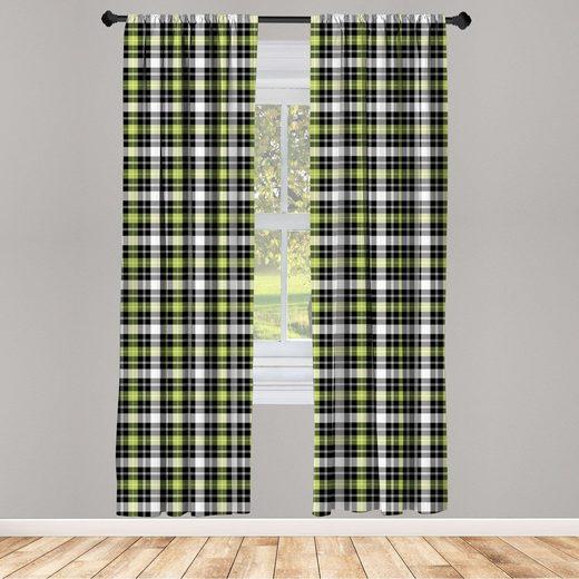Gardine »Fensterbehandlungen 2 Panel Set für Wohnzimmer Schlafzimmer Dekor«, Abakuhaus, Geometrisch Vertikal Quadrat Linien