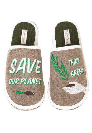 ADELHEID »Planet GO GREEN Filzpantoffel« Pantoffel