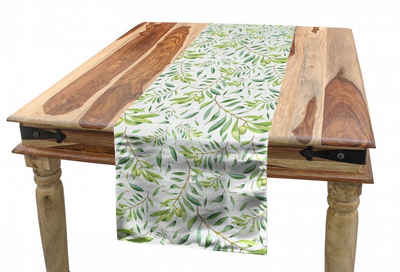Abakuhaus Tischläufer »Esszimmer Küche Rechteckiger Dekorativer Tischläufer«, Grünes Blatt Olivenbaum