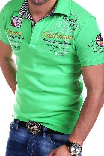 behype Poloshirt »CHALLENGE« mit sportiven Prints & Stickerei