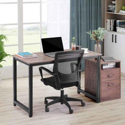 Merax Schreibtisch »WriteNow«, Bürotisch Computertisch PC Tisch Arbeitstisch Stahlgestell einfacher Aufbau in verschiedenen Farben