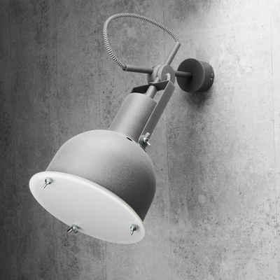 Licht-Erlebnisse Wandstrahler »INDUSTRIAL«, Wandleuchte Metall Industrie Stil verstellbar Innen Wohnzimmer Lampe