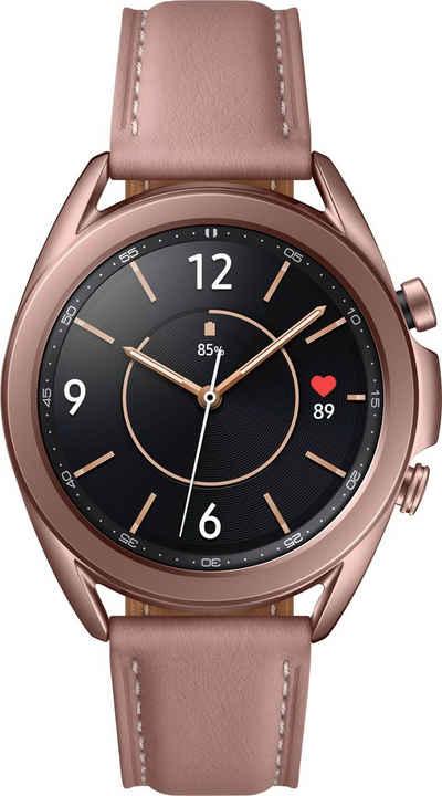 Samsung Galaxy Watch 3, Edelstahl, 41 mm, Bluetooth (SM-R850) Smartwatch (3 cm/1,2 Zoll, Android Wear)