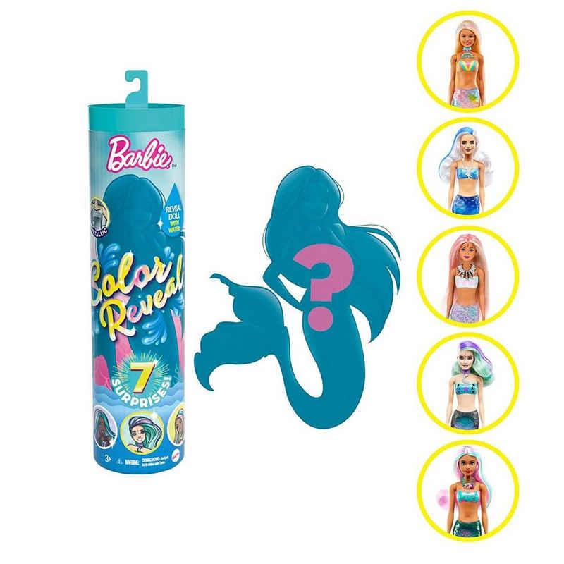 Mattel® Meerjungfrauenpuppe »Mattel GTP43 sort. - Barbie - Color Reveal - Puppe, mit Zubehör, mehrfach sortiert, Meerjungfrau«