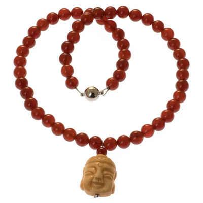Bella Carina Perlenkette »Kette mit Karneol und Buddha«, mit Karneol Perlen