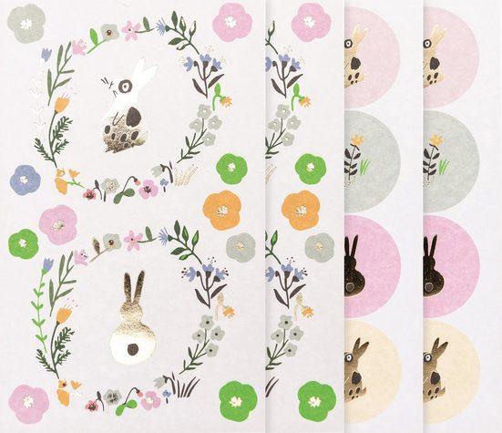 Rico-Design Verlag Sticker »Easter Bunny«, 4 Bogen
