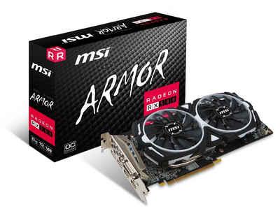 MSI VGA MSI Radeon RX 580 ARMOR 8G OC Grafikkarte (8 GB, GDDR5, Torx Fan)
