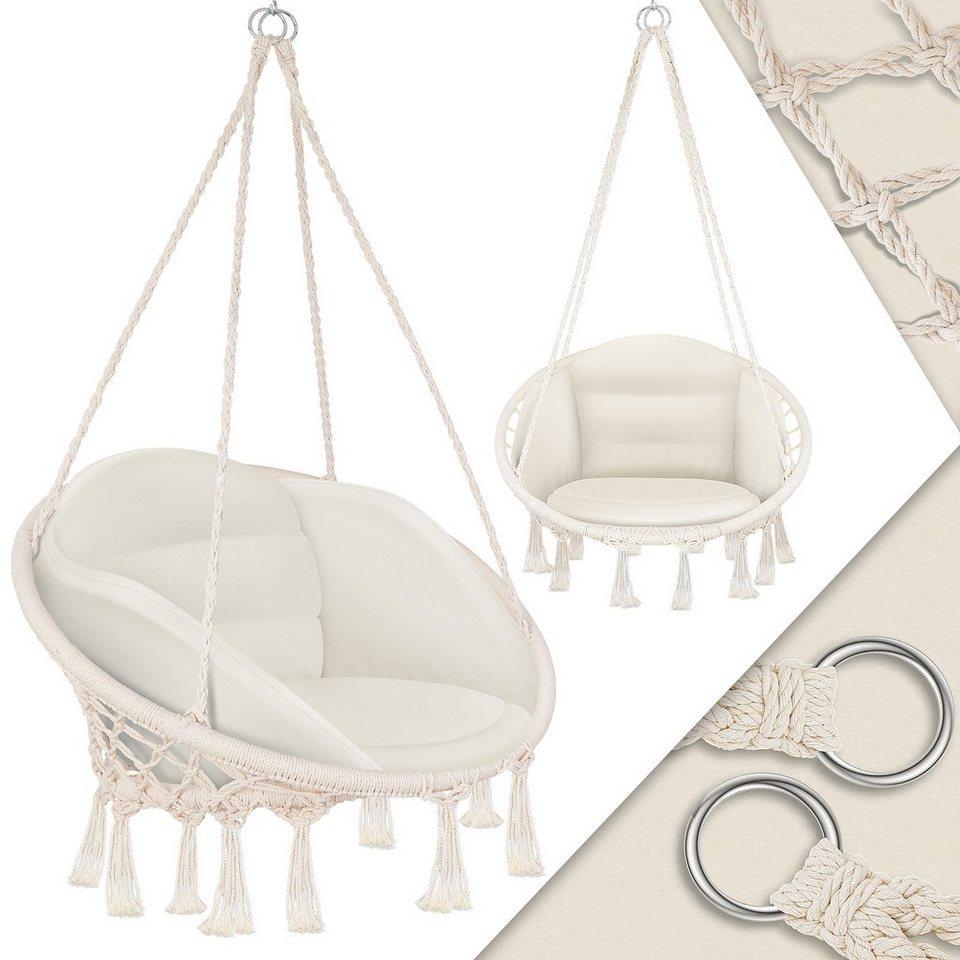 KESSER Hängesessel, mit Kissen   Chill Hängestuhl zum Aufhängen für  Erwachsene & Kinder Hängematte bis 20 kg Hängesitz Aufhängung Indoor &  Outdoor ...