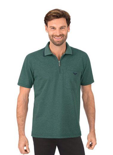 Trigema Poloshirt mit Reißverschluss