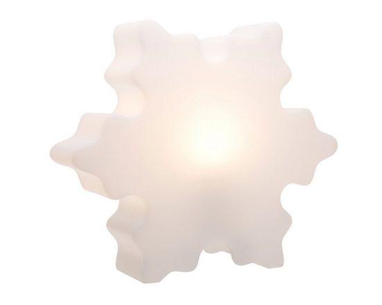 8 seasons design Gartenleuchte »Shining Crystal«, 40 cm weiß für In- und Outdoor