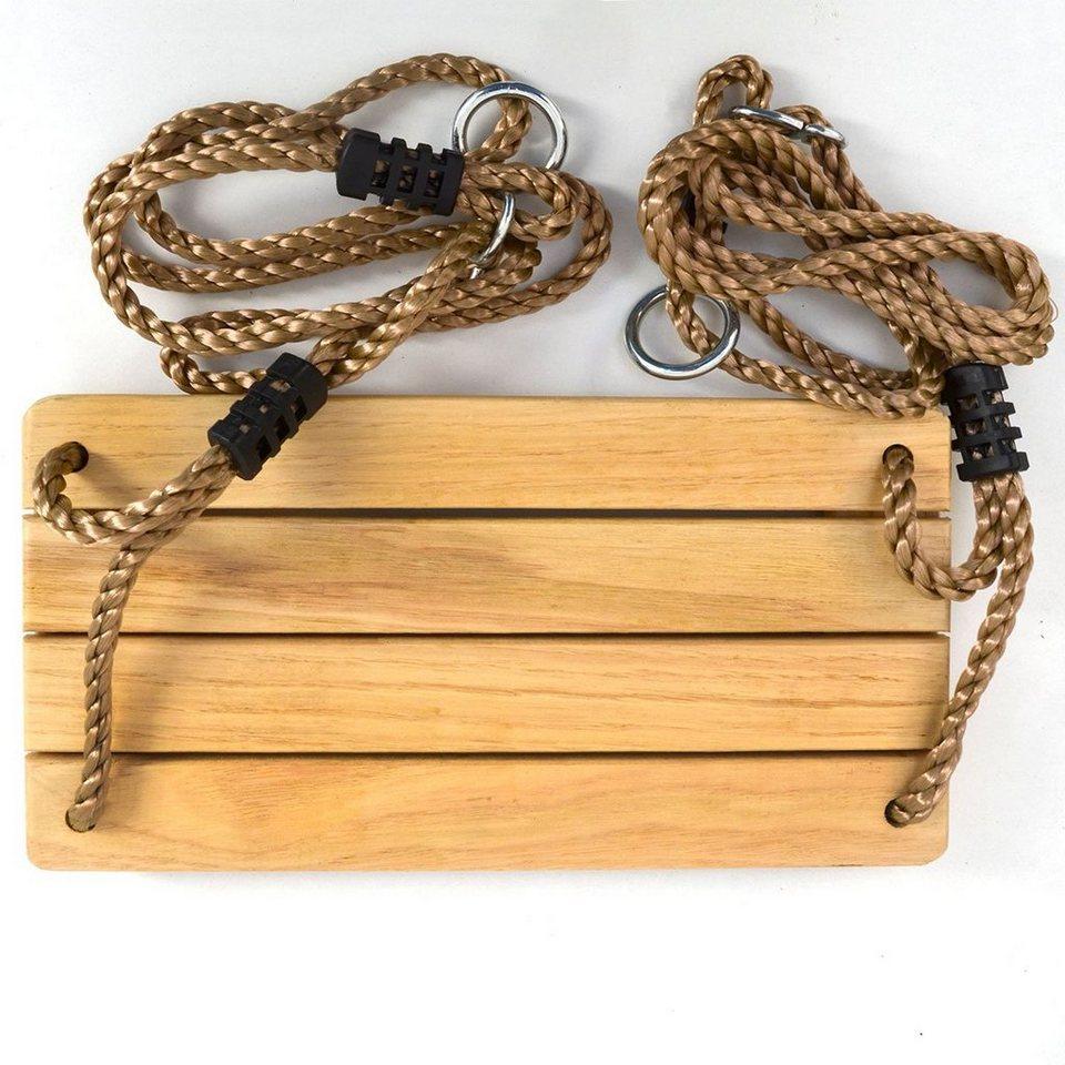 LittleTom Einzelschaukel »Kinder Brettschaukel Holz Schaukelbrett Kindersitz«, 38 x 20 cm Natur