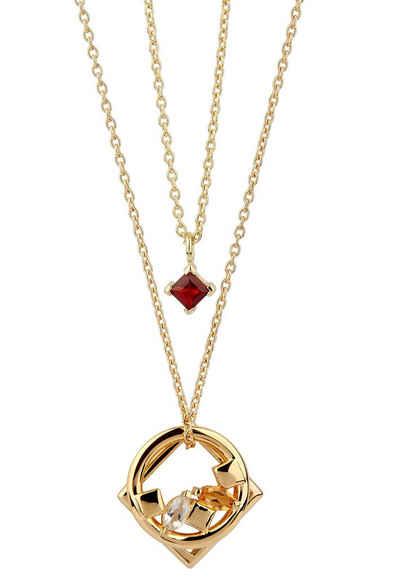 Carolin Stone Jewellery Kette mit Anhänger »Daring Halskette roter Granat«