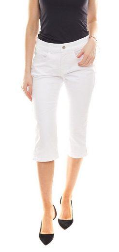 MAC Caprijeans »MAC Clean Capri-Jeans schmal geschnittene 3/4-Hose Freizeit-Hose Weiß«