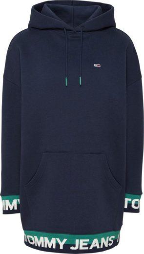 TOMMY JEANS Sweatkleid »TJW BRANDED HEM SWEAT DRESS« mit Bündchen im Colorblocking & Tommy Jeans Logo-Schriftzug