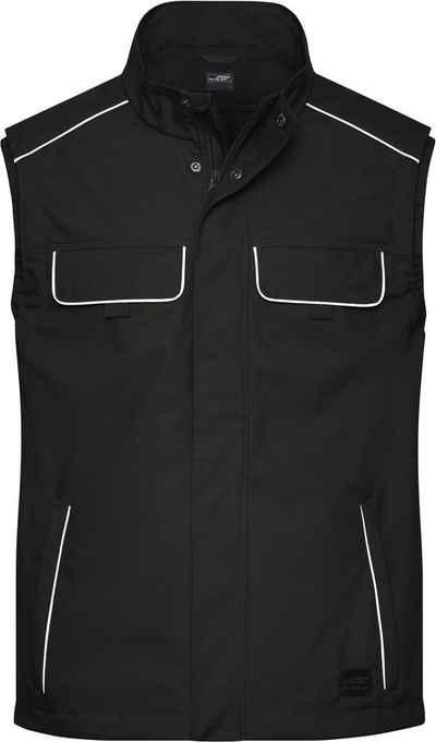James & Nicholson Softshellweste »Workwear Softshell Light Weste FaS50881 auch in großen Größen«