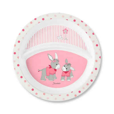Sterntaler® Gläser-Set »Kinderteller Emmi Girl ø 21,8 cm«, Kunststoff