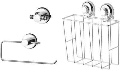 GSW Küchenorganizer-Set »HOOKIE System® 3-teilig«, (3-tlg), intelligenter Saughaken