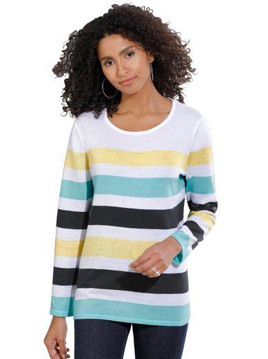 Classic Basics Pullover mit flotten Streifen