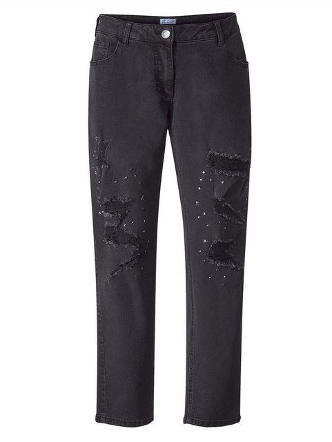 Hosen - Angel of Style by HAPPYsize Jeans mit Nieten › schwarz  - Onlineshop OTTO