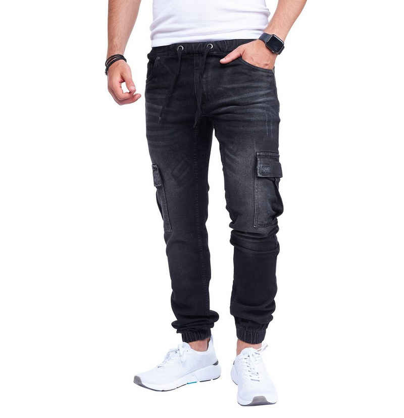 Styleko Cargojeans »Herren Cargohose Cargo Jeans Hose für Männer Jungen Regular Slim fit Denim Destroyed Jogger Freizeithose Casual Jeans Pants Jeans Herren Stretch 8004«