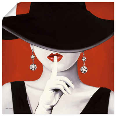 Artland Wandbild »Hut ab I«, Frau (1 Stück), in vielen Größen & Produktarten -Leinwandbild, Poster, Wandaufkleber / Wandtattoo auch für Badezimmer geeignet