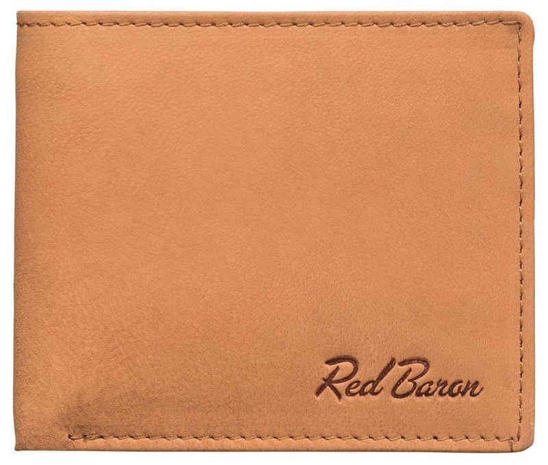 Red Baron Geldbörse »RB-WT-007-02«, Kreditkartenfächer, Steckfächer, schlicht