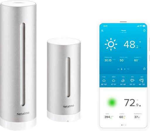 Netatmo »Smarte Wetterstation + Regenmesser« Wetterstation