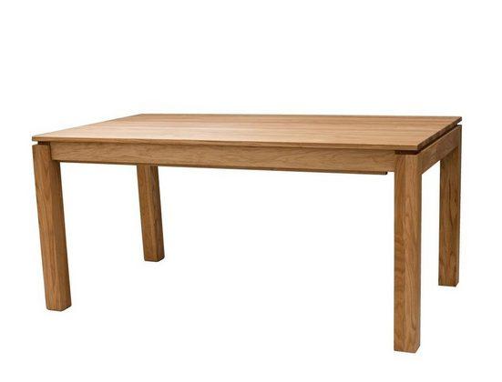 expendio Esstisch »Kantu 3XL«, Eiche natur geölt 160(280)x90 cm aus Massivholz mit Gestellauszug