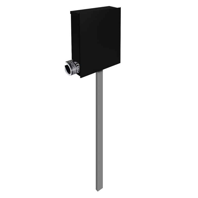MOCAVI Briefkasten »MOCAVI Stand 310 Briefkasten-Ständer silber (weiß-aluminium RAL 9006) Standfuß zum Einbetonieren matt«