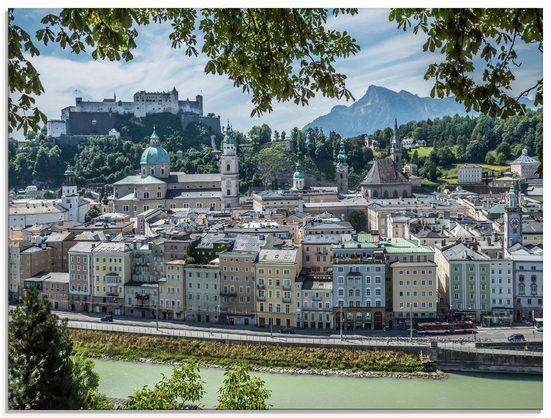 Artland Glasbild »Salzburg Blick auf die Altstadt«, Österreich (1 Stück)