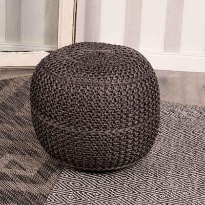 Obsession Sitzkissen »My Pouf Exo«, Sitzhocker, rund, Strickoptik, In- und Outdoor geeignet