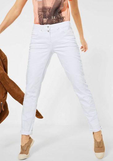 Cecil Slim-fit-Jeans »Scarlett« mit doppeltem Knopfverschluss