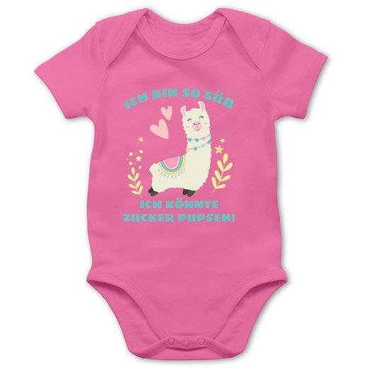 Shirtracer Shirtbody »Lama Ich bin so süß ich könnte Zucker Pupsen - Baby Body Kurzarm - Strampler & Bodies« Sprüche Baby
