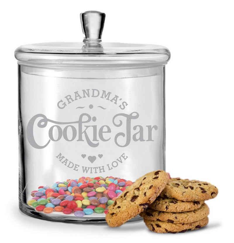 GRAVURZEILE Keksdose »Leonardo Keksglas mit Gravur Grandmas Cookie Jar für die Beste Oma der Welt«, Glas