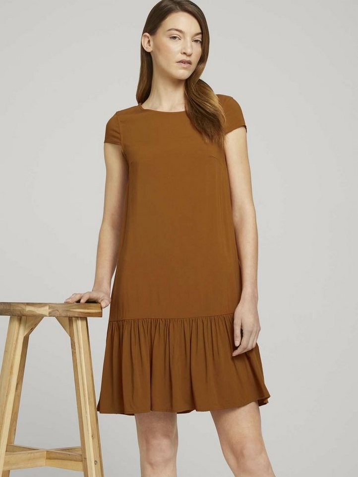tom tailor -  Minikleid »Kurzes Kleid mit Volant«