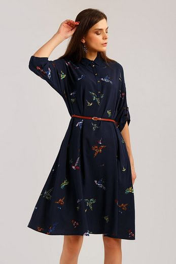 Finn Flare Jerseykleid mit tollem Vogel-Motiv