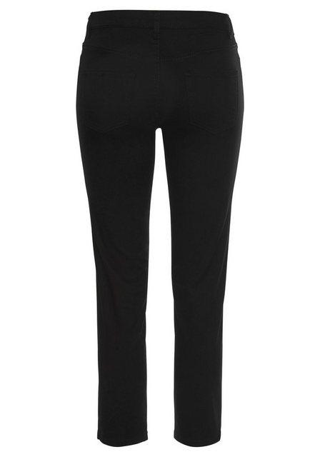 Hosen - AJC 7 8 Hose mit modisch sichtbarer Knopfleiste › schwarz  - Onlineshop OTTO