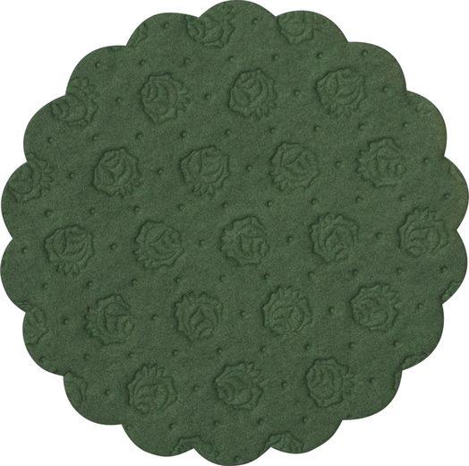 Demmler Tassenuntersetzer 500 grüne Tassendeckchen, Glasuntersetzer, 9cm, Made in Germany