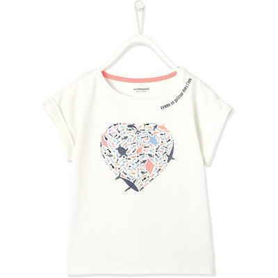 vertbaudet T-Shirt »T-Shirt mit Glitzer für Mädchen«