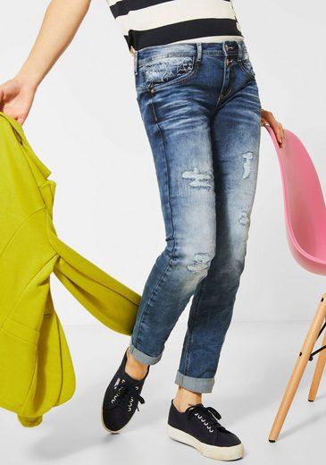STREET ONE Slim-fit-Jeans »Crissi« elastischer Materialmix
