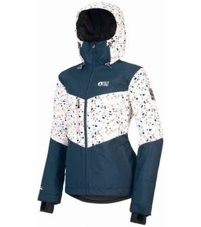 Picture Skijacke »PICTURE Week End Ski-Jacke extravagante Winter-Jacke für Damen mit Kapuze Snowboard-Jacke Blau/Weiß«