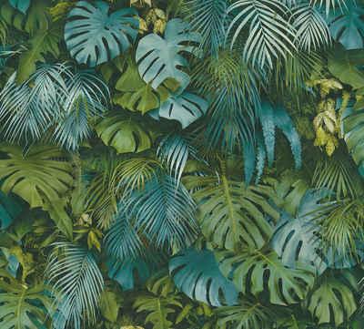 A.S. Création Vliestapete »Greenery mit Palmenprint in Dschungel Optik«, floral